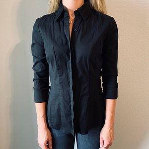 White House Black Market - Black Button Up Blouse